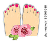 pedicure clipart