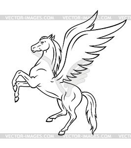 Pegasus horse - vector clip a - Pegasus Clip Art