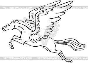 Pegasus - Vector Clipart-Pegasus - vector clipart-18