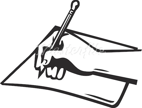 Pen And Paper Clipart-pen and paper clipart-11