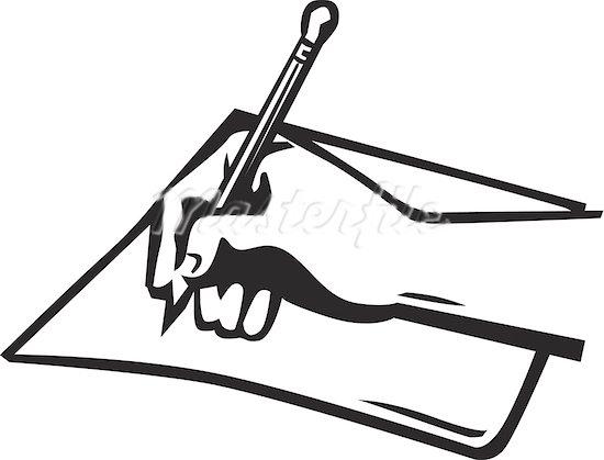 Pen And Paper Clipart-pen and paper clipart-9