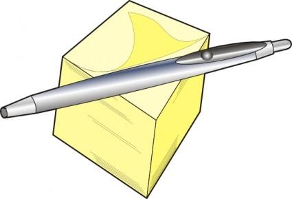 Pen And Pad Clip Art Vector Clip Art - F-Pen And Pad clip art Vector clip art - Free vector for free download-13