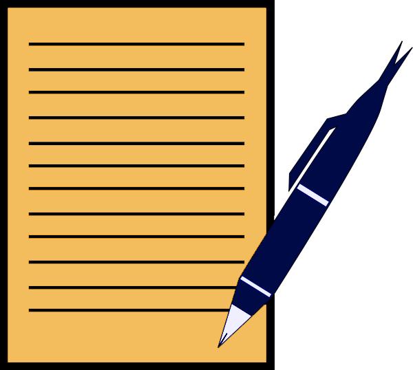 Pen And Paper Clip Art