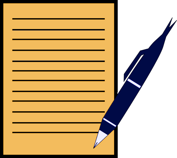Pen And Paper Clip Art-Pen And Paper Clip Art-16