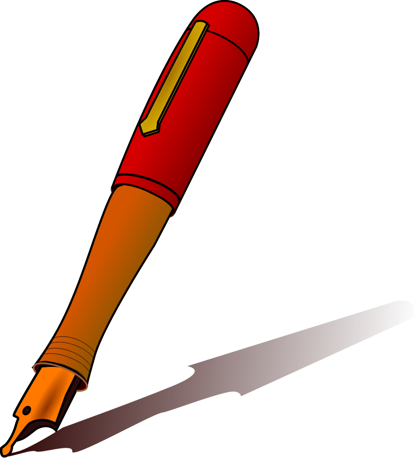 Pen clip art black and white free clipart images 2
