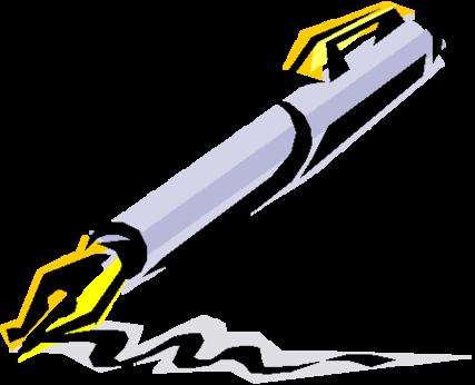 Pen Clip Art Black And White .