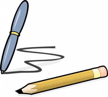 Pencil And Paper Clipart-pencil and paper clipart-19