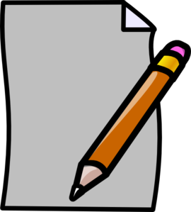 Pencil And Paper Clipart-pencil and paper clipart-8