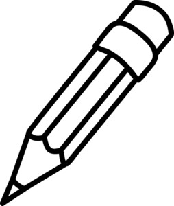 Pencil Writing Clipart Black And White-pencil writing clipart black and white-7