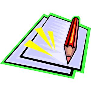 Pencil Amp Paper 2 Clipart Cl - Pencil And Paper Clip Art