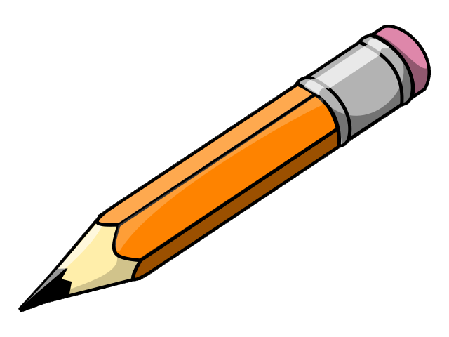 Pencil clip art black and .