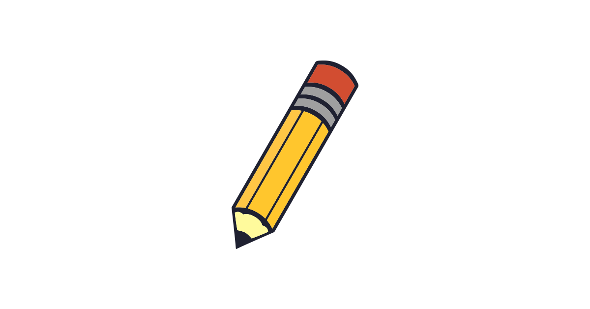 Pencil clipart vector and free