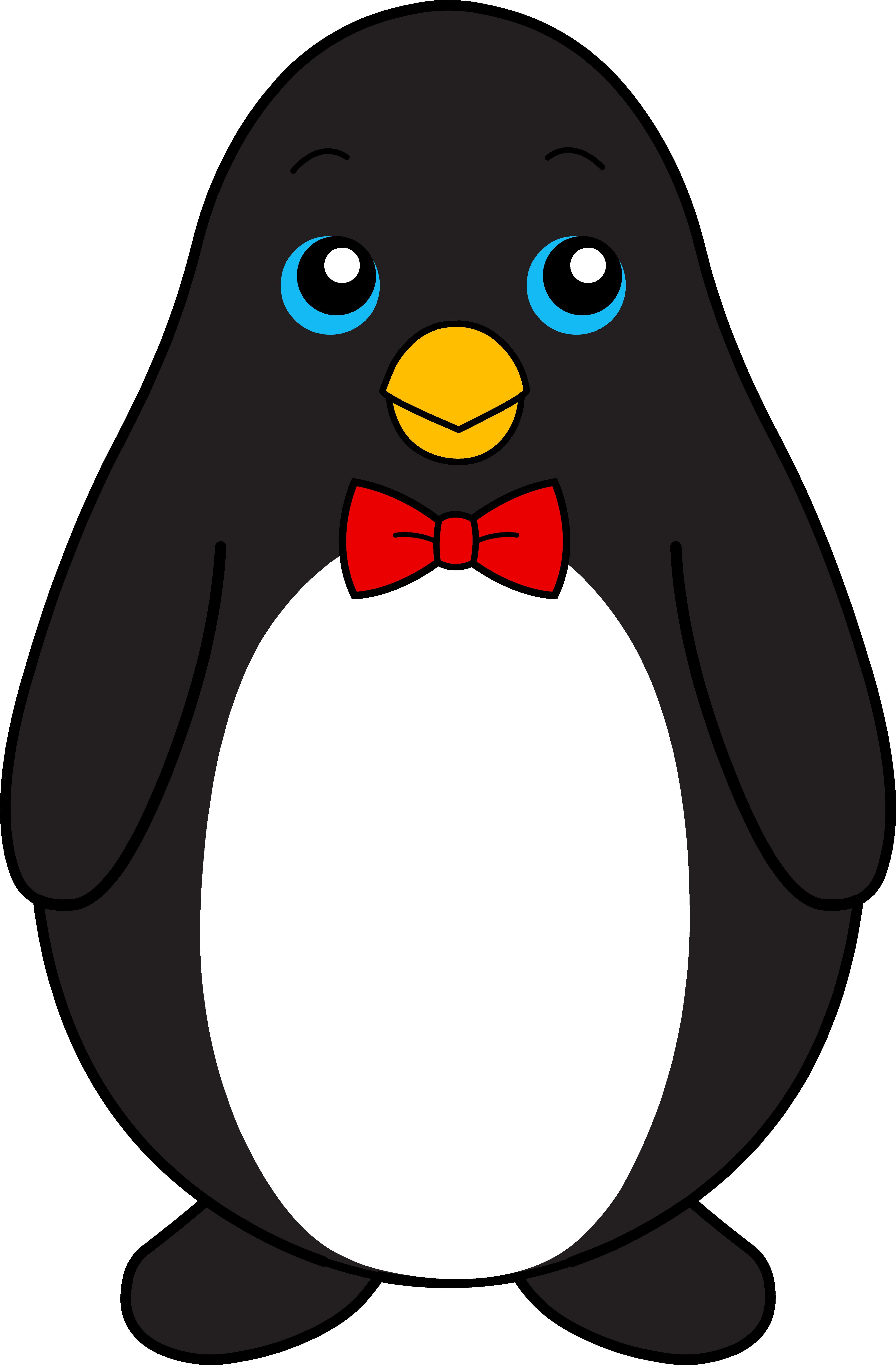 penguin clipart black and white
