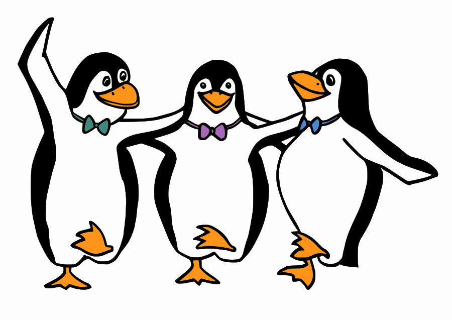 Penguin Clip Art Black And White