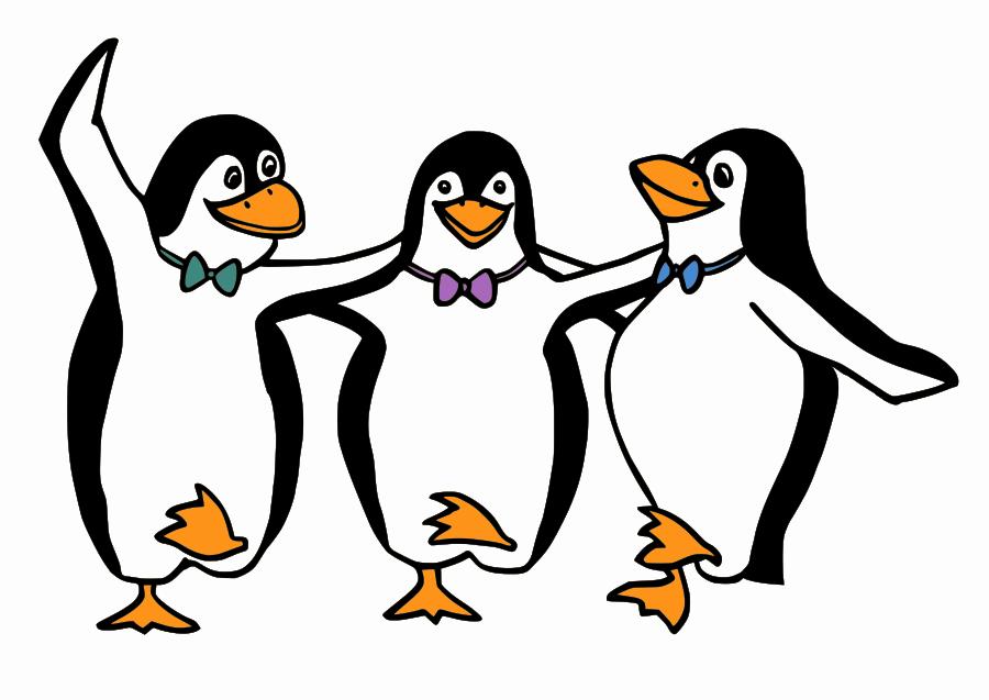 Penguin Clip Art Black And White-Penguin Clip Art Black And White-6