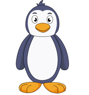 penguin on ice. Size: 45 Kb