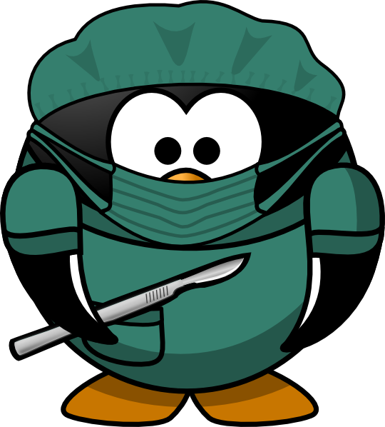 Penguin Surgeon Clip Art