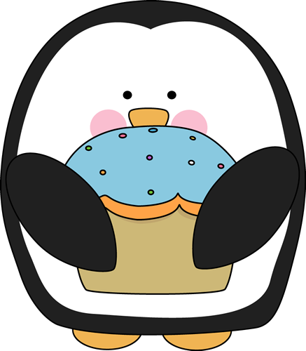 Penguin with a Cupcake
