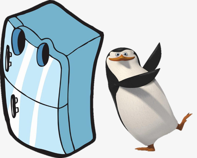 Refrigerator With Penguins, Refrigerator-refrigerator with penguins, Refrigerator, Penguin, Penguins Of Madagascar  PNG Image and Clipart-17