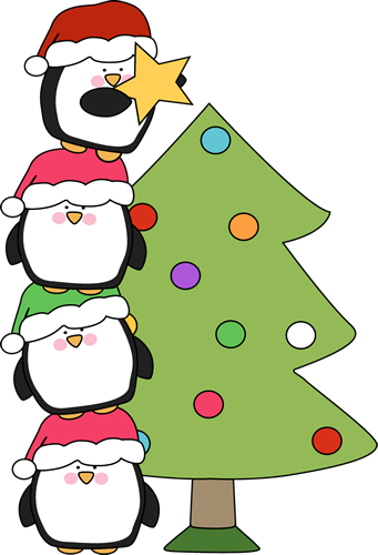 Penguins Putting A Star On A Christmas T-Penguins Putting a Star on a Christmas Tree-12