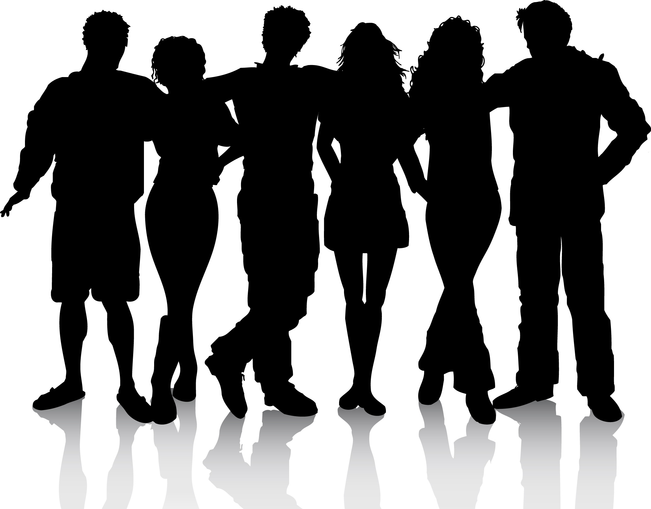 People clip art silhouette .