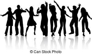 ... People dancing - Silhouettes of people dancing