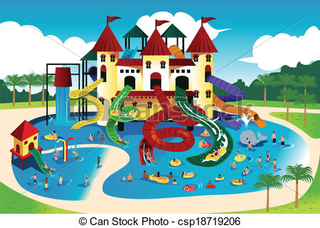 People Going To Water Park .-People going to water park .-6