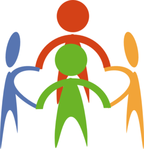 People Holding Hands In A .. - Holding Hands Clip Art