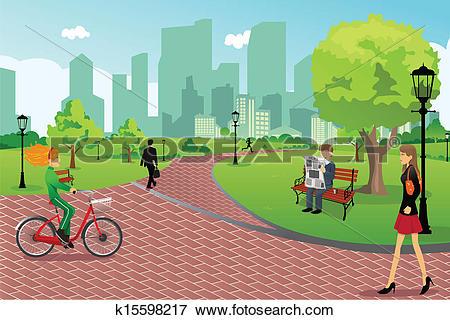 People In A City Park-People in a city park-15
