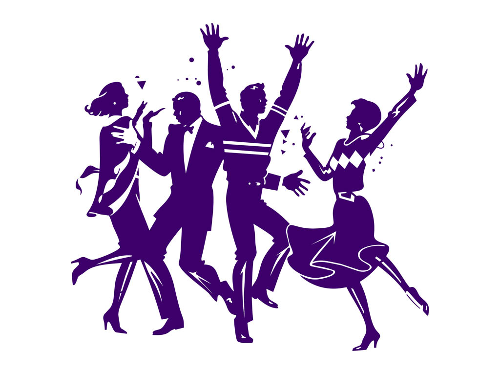 People Partying Clipart Dancing Party People Graphics