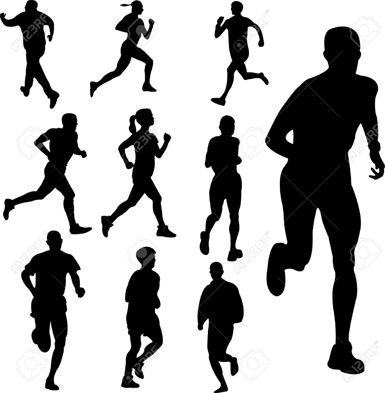 people running - vector Stock .