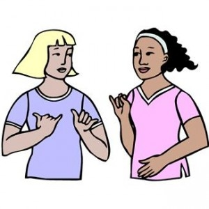 ... People Using Sign Language Clipart ...