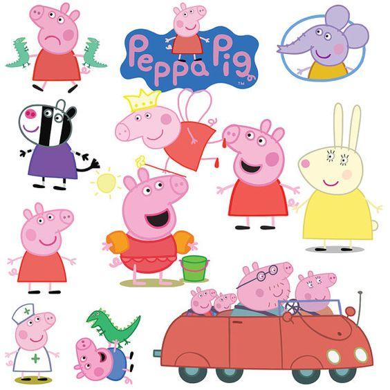 Peppa Pig Clipart 39 PNG Cartoon Digital-Peppa Pig Clipart 39 PNG Cartoon Digital by AmazingClipart on Etsy-11