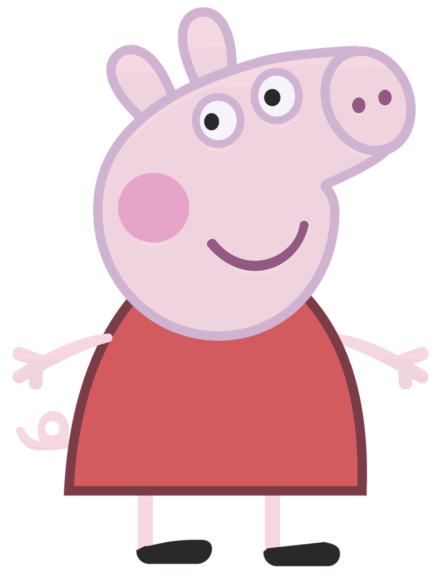 Peppa Pig Clipart - animal, .