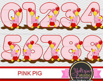 Peppa Pig clipart numbers age - Peppa Pig Clip Art