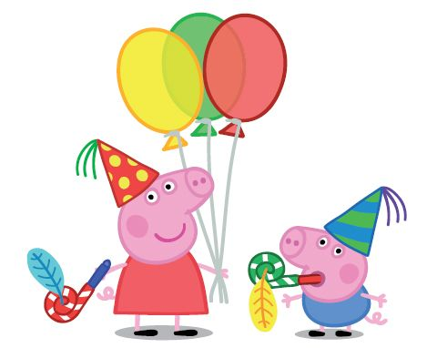 Peppa Pig Birthday Clipart .