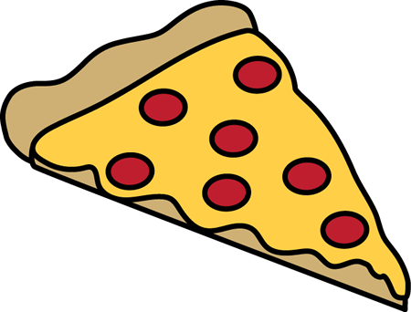 Pepperoni Pizza Slice - Pizza Clip Art