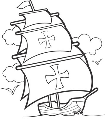 Perfect Clip Art For November - Christopher Columbus Clip Art