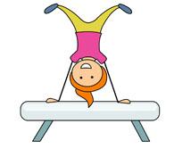 performing gymnastics on pommel horse. Size: 44 Kb