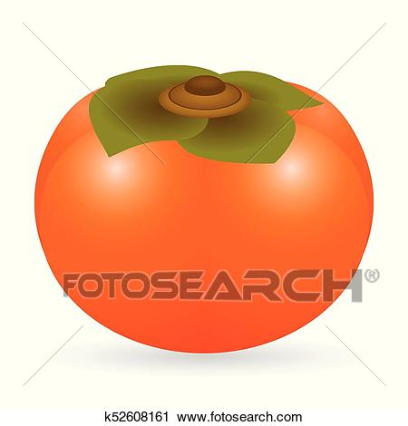 Clipart - Persimmon vector is - Persimmon Clipart