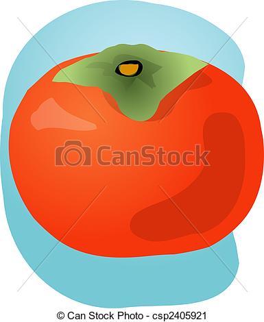 Persimmon Fruit Illustration