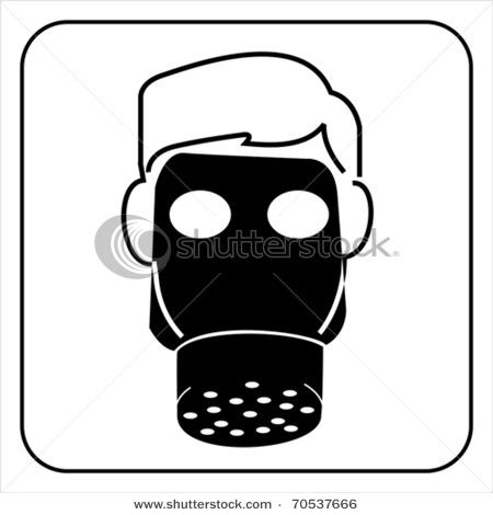 Person Wearing Gas Mask Vector Clip Art Picture ...