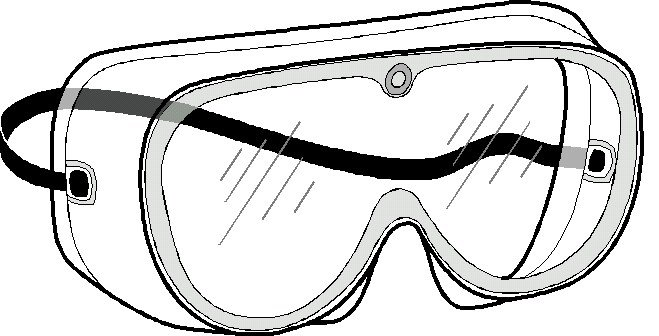 Personal Protective Equipment - Safety Glasses Clip Art