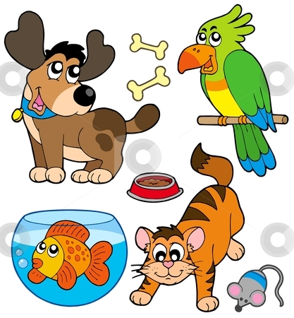 Pet Clipart Free. Cartoon pets collection