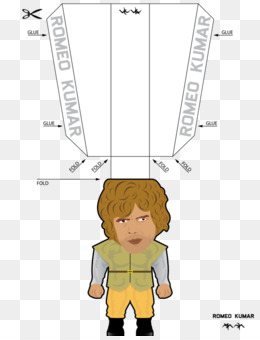 Jon Snow Paper toys Tyrion Lannister - peter dinklage