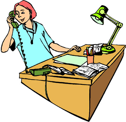 office phone clipart