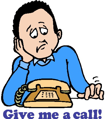 Phone call clipart 7 .