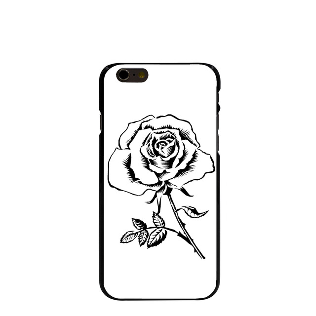 10122 flowers clip art Hard transparent Cover cell phone Case for iPhone 4  4S 5 5S