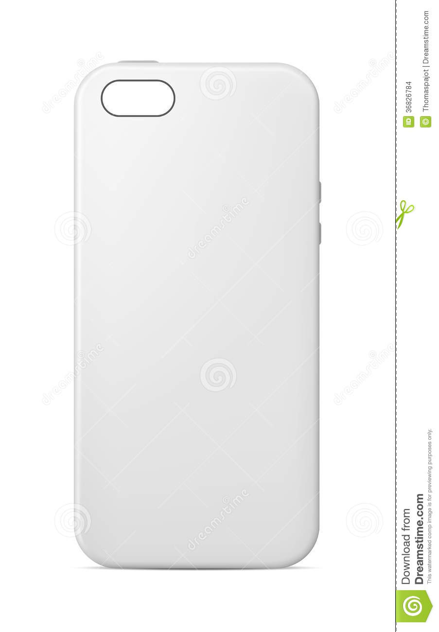 Iphone Cover Vector With Phone Case Template Stock Images