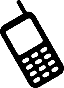 Cell Phone Clip Art: Cell phone clipart
